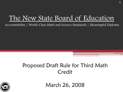 The New State Board of Education - Washington State Board of ...