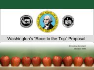 """""""Race to the Top"""" Proposal - Washington State Board of Education"""