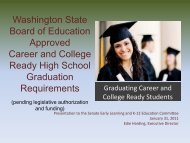 Washington State Board of Education Approved Career and College ...