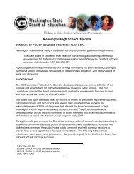 Meaningful High School Diploma - Washington State Board of ...