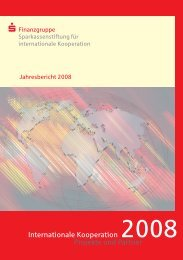 Jahresbericht 2008 - Sparkassenstiftung