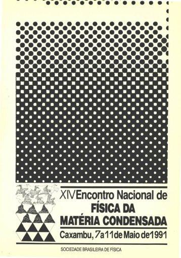FÍSICA DA MATÉRIA CONDENSADA - Sociedade Brasileira de Física