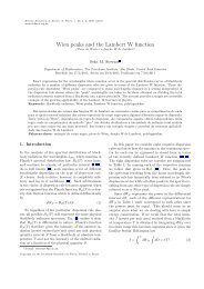 Wien peaks and the Lambert W function - Sociedade Brasileira de ...