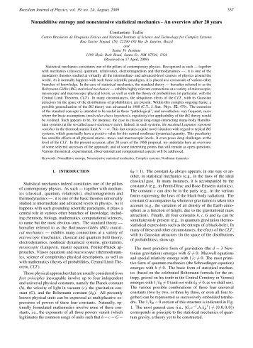 Nonadditive entropy and nonextensive statistical mechanics - An ...