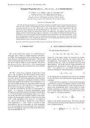 Transport Properties of a Ga 1-x Mn x As/Ga 1-y Al y As
