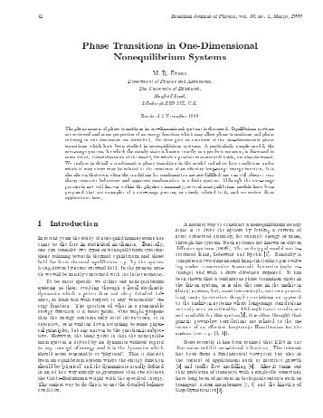 Phase Transitions in One-Dimensional Nonequilibrium Systems
