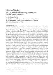 Klima im Wandel Climate Change - Universität Salzburg