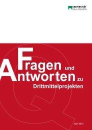 und Drittmittelprojekten zu - Universität Salzburg