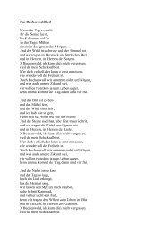 Das Buchenwaldlied Wenn der Tag erwacht eh' die Sonne lacht, die ...