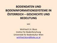 Fortsetzung: Geschichte der Erhebung von Bodendaten in Österreich