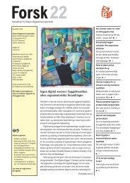 Forsk22 - Statens Byggeforskningsinstitut