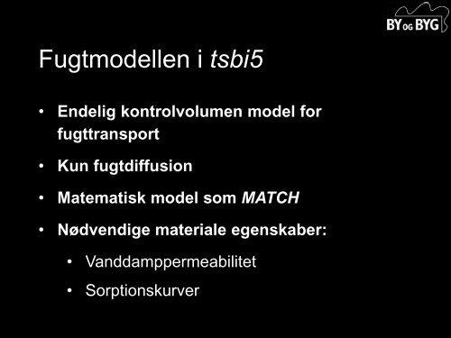 Fugtberegninger - Statens Byggeforskningsinstitut