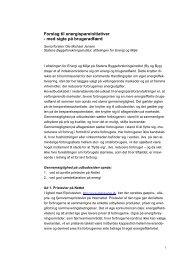 Forslag til energispareinitiativer - Statens Byggeforskningsinstitut