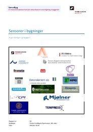 Sensorer i bygninger - Statens Byggeforskningsinstitut