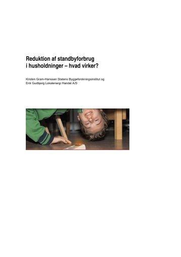 Reduktion af standbyforbrug i husholdninger - hvad virker? - Statens ...