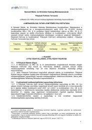 Miskolc 90,4 MHz 1 Nemzeti Média- és Hírközlési Hatóság ... - ORTT