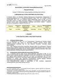 Eger 91,8 MHz 1 Nemzeti Média- és Hírközlési Hatóság ... - ORTT