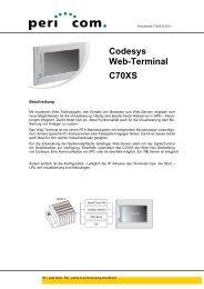 Produktblatt C070XS CH-2011-1 - Pericom AG