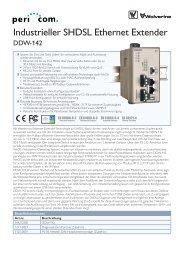Industrieller SHDSL Ethernet Extender - Pericom AG