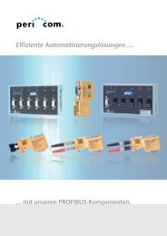 Effiziente Automatisierungslösungen ... - Pericom AG