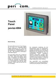 Produktblatt pevizz-t084 D-2010-1 - Pericom AG