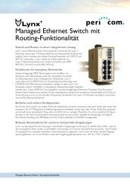 Managed Ethernet Switch mit Routing-Funktionalität - Pericom AG