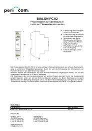 BIALON PC02 - Pericom AG