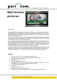 Produktblatt pevizz-wx D-2010-1 - Pericom AG