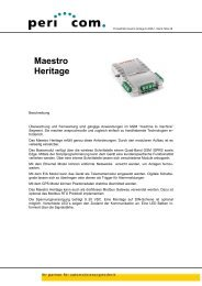 Produktblatt maestro heritage D-2008-1 - Pericom AG