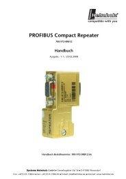 PROFIBUS Compact Repeater - Pericom AG
