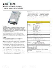 105U-G Wireless Gateway - Pericom AG