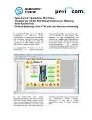 ' SpiderControl™ Grafik-Editor PLC Edition ... - Pericom AG
