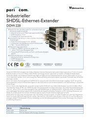 Industrieller SHDSL-Ethernet-Extender - Pericom AG