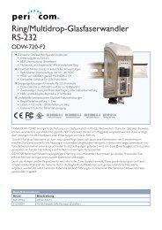 Ring/Multidrop-Glasfaserwandler RS-232 - Pericom AG