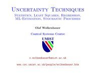 Uncertainty Techniques (pdf) - SBI Rostock
