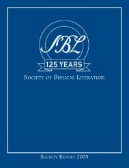 Society Report 2005.indd - Society of Biblical Literature