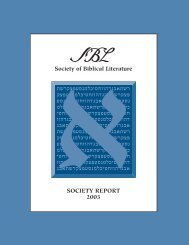 31101_Society Report - Society of Biblical Literature