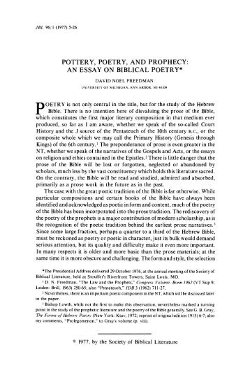 literary essay on poetry introduction to literature eng  pottery poetry and prophecy an essay on biblical
