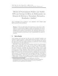 Método de Posicionamento Relativo por Satélite GPS com Correç ...