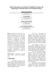 Modelo Matemático para Estudo da Viabilidade Econômica da ...