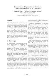 Transformadas Trigonométricas Discretas: Convoluç˜oes e ...