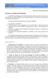 Incentivo às atividades nas regionais da SBMAC - Sociedade ...