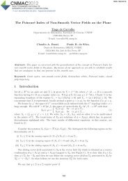 The Poincaré Index of Non-Smooth Vector Fields on the ... - sbmac