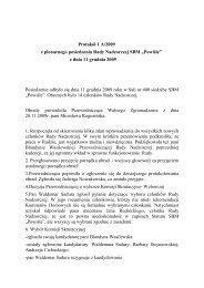 Protokół 1 A/2009 z plenarnego posiedzenia Rady ... - POWIŚLE