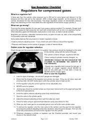Gas cylinder checklist