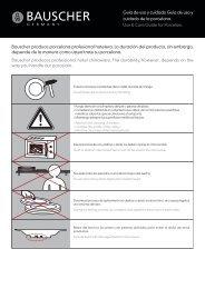 Guía de uso y cuidado Guía de uso y cuidado de la ... - Bauscher