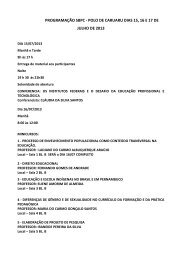 programação sbpc - polo de caruaru dias 15, 16 e 17 de julho de 2013