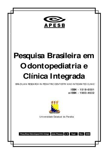 Anais 2008 - Sociedade Brasileira de Pesquisa Odontológica