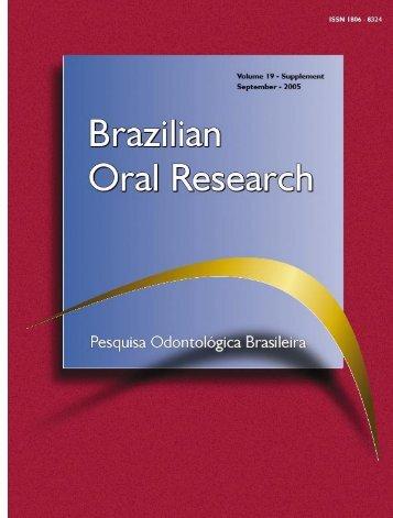 Capa, Conteúdo e Índice - Sociedade Brasileira de Pesquisa ...