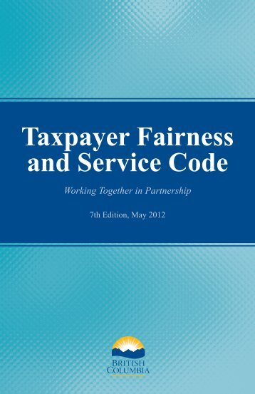 Taxpayer Fairness and Service Code, 7th Edition - Revenue Division